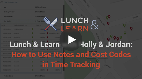 How to Use Notes and Cost Codes for Time Tracking