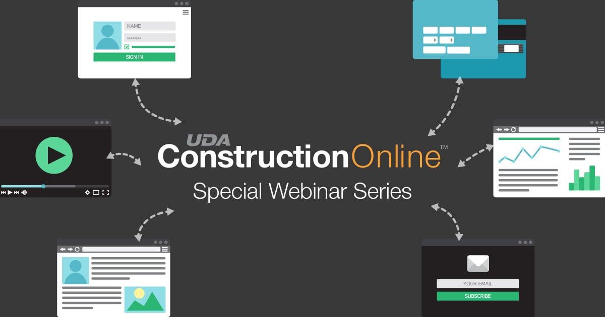 Special Webinar Series Showcasing ConstructionOnline 2019
