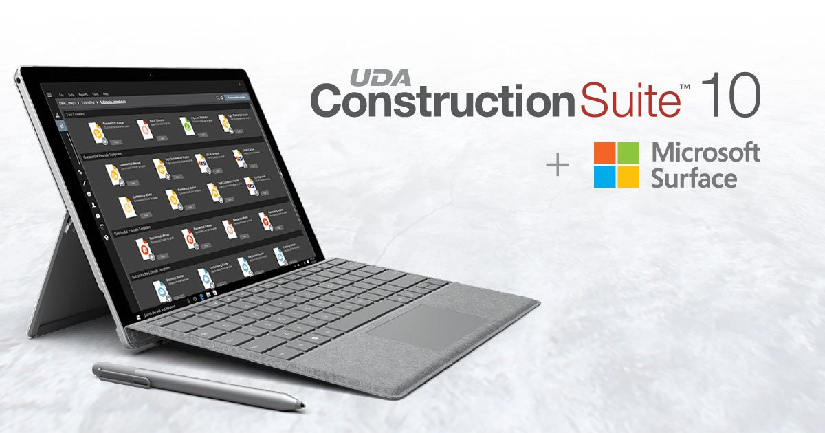 ConstructionSuite 10 Certified for Microsoft Surface Pro 6