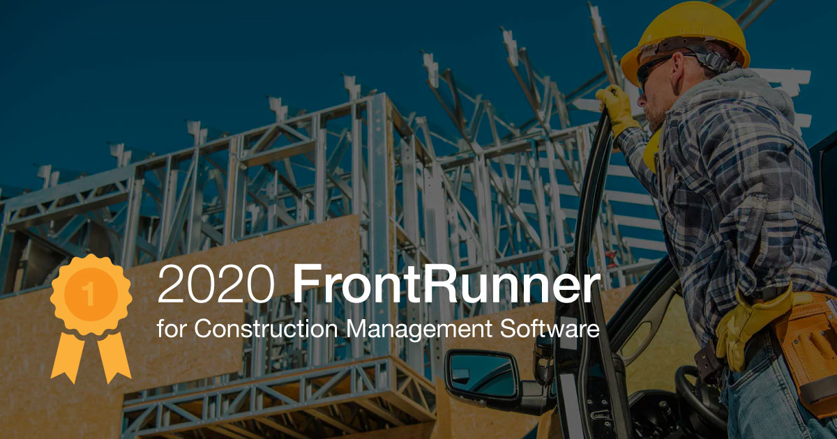 ConstructionOnline™ Named as FrontRunner for Construction Management Software