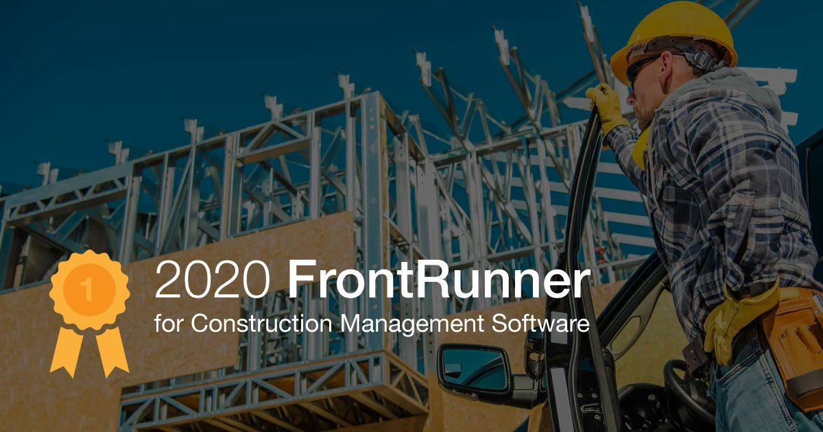 ConstructionOnline Named FrontRunner for Construction Project Management Software