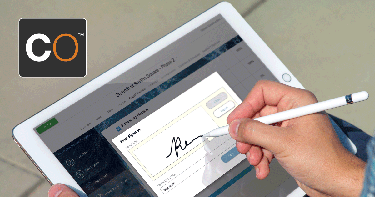 Signatures Now Available for Punch Lists in ConstructionOnline™