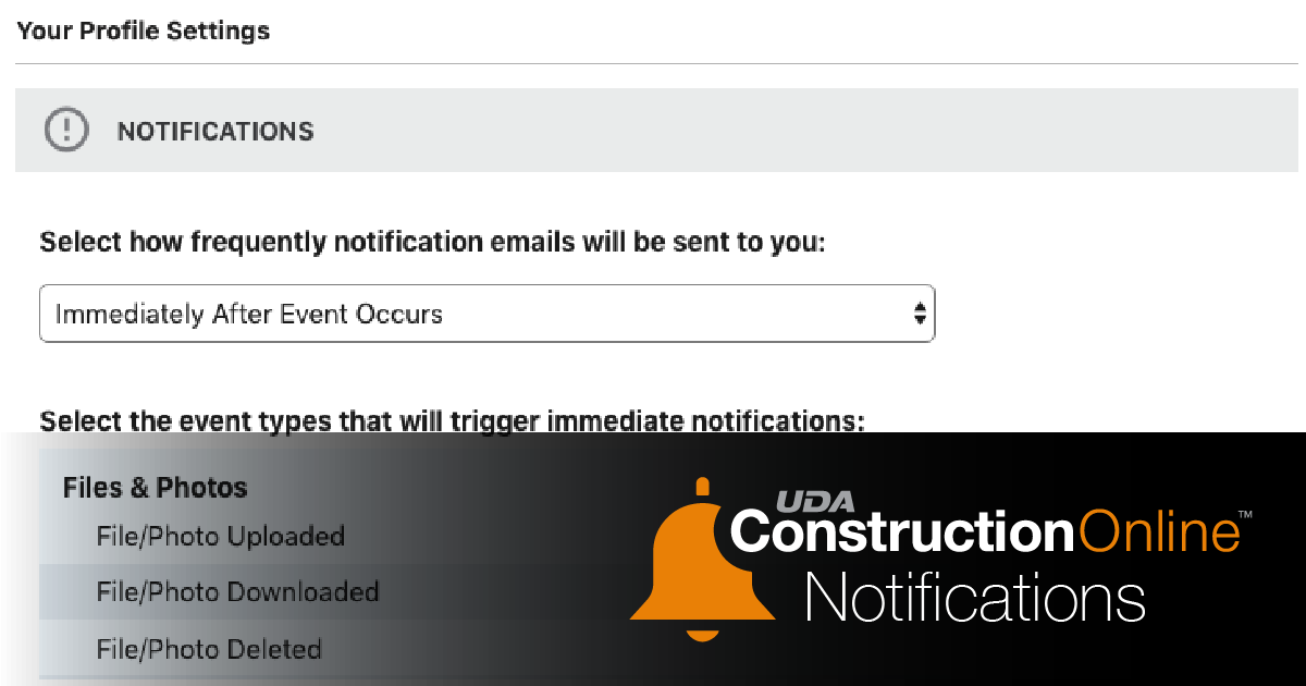 Expanded Notifications Settings Now Available in ConstructionOnline