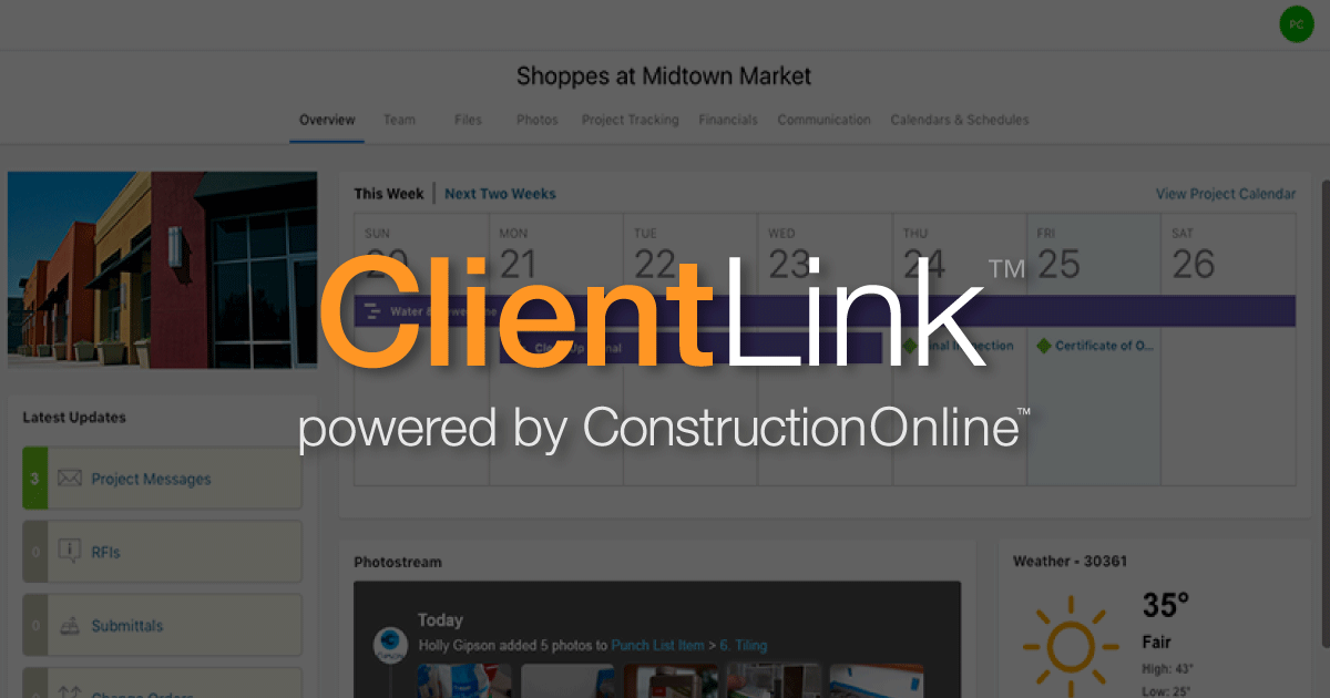 Discover Professional Client Engagement with ConstructionOnline™ ClientLink