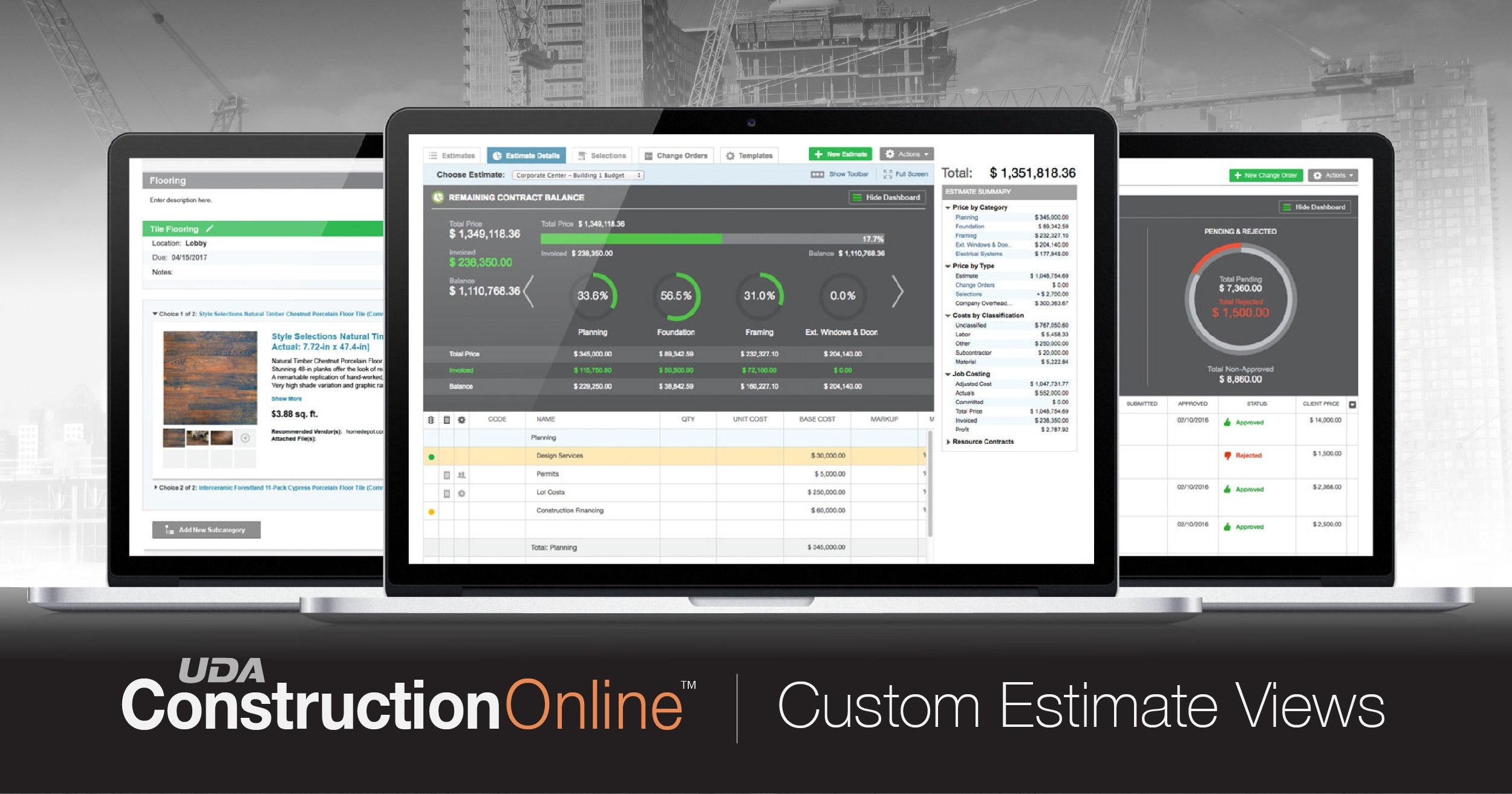 Better View of Project Job Costing Available with New Custom Estimate Options in ConstructionOnline
