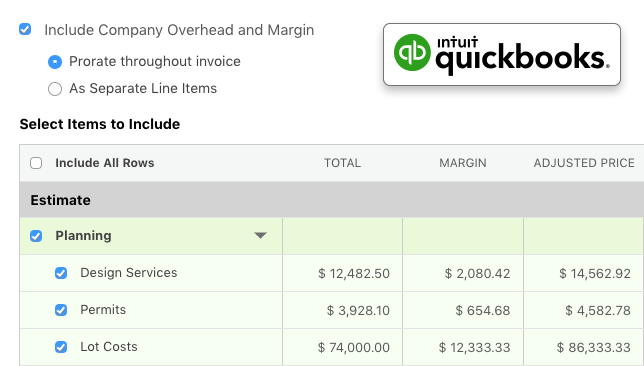 Enhanced QuickBooks Online Invoicing Available for ConstructionOnline