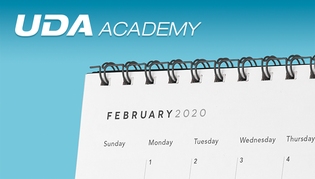 UDA Academy Announces February Schedule of Events