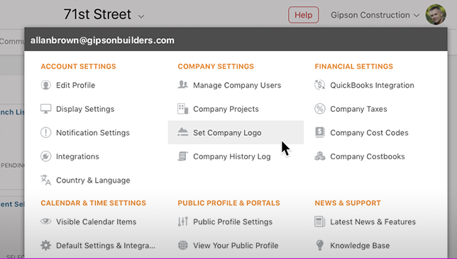 Access to ConstructionOnline Account Settings Streamlined with Updated Menu Design