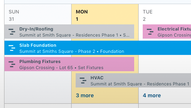 Enhanced Construction Calendars Offer Vital Task Details in Clear, Concise Display