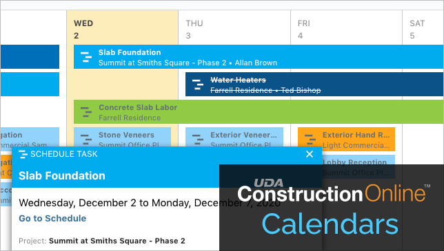 Calendar Enhances Visibility + Accountability for Extended Construction Teams