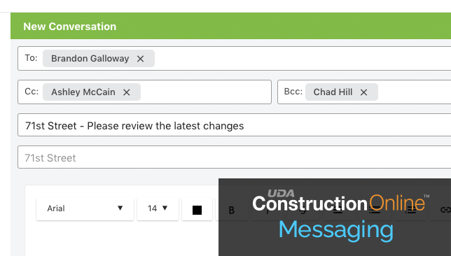 New CC and BCC Options Introduced for ConstructionOnline Messaging
