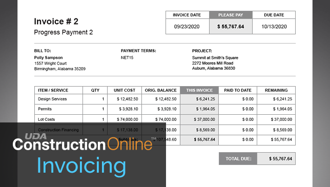 New Invoicing Now Available in ConstructionOnline