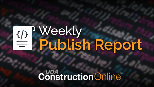 ConstructionOnline Publish Notes for the Week of February 15, 2021
