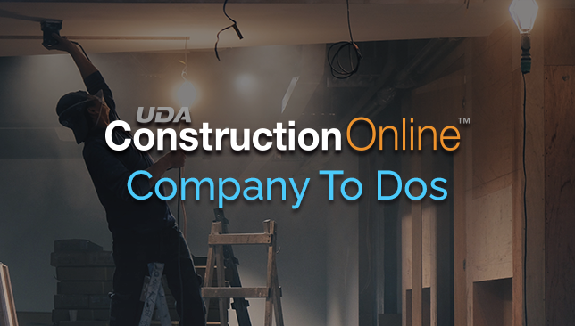Enhanced Access to ConstructionOnline To Dos from Company Overview Dashboard
