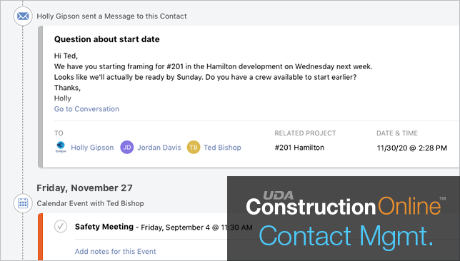 Contact Management Advanced in Top Rated Construction Project Management Software