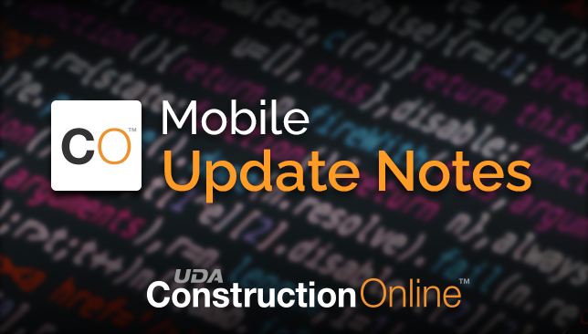 CO™ Mobile Update Notes (Version 4.1.0)