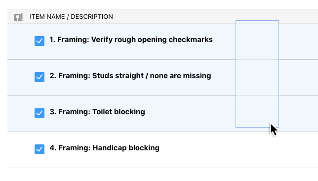Multi-Select Capabilities Now Available for Construction Checklists & Punch Lists