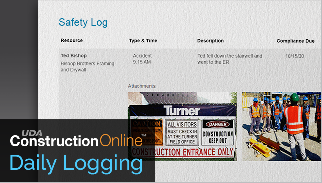New Safety Log Report Now Available in ConstructionOnline