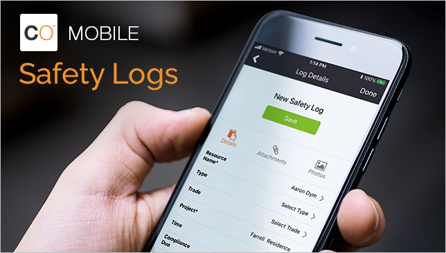 Safety Logs Now Available in ConstructionOnline Mobile Daily Logging