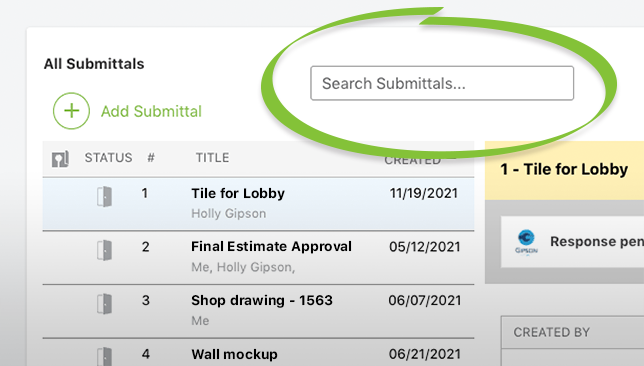 Construction Correspondence Tracking Enhanced with New Search Options for Submittals, Transmittals, and RFIs