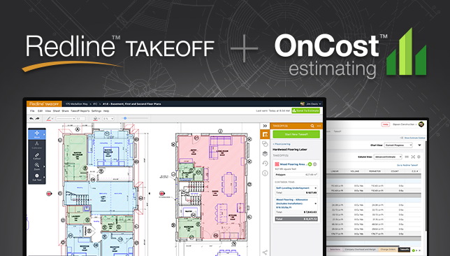 New Integration Announced between Redline™ Takeoff +  OnCost™ Estimating